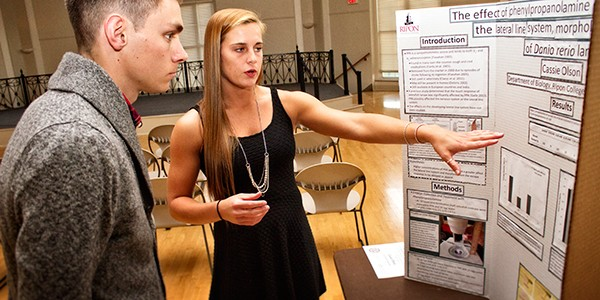 Seniors recently shared their research in a showcase presentation