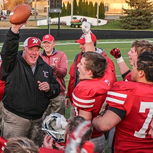 Football Coach Ron Ernst won his 160th game, a new MWC record