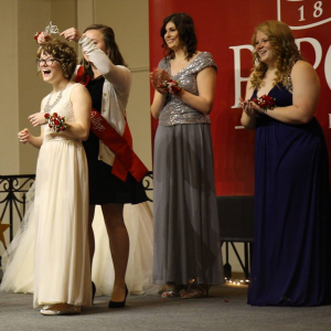 Kate Cichon is crowned Miss Ripon College 2016.
