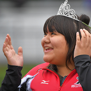 Sophomore Melany Castillo was happy to be named to the Homecoming royalty.