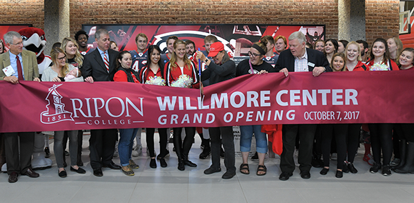 Willmore Center was formally dedicated with a ribbon-cutting ceremony Oct. 7