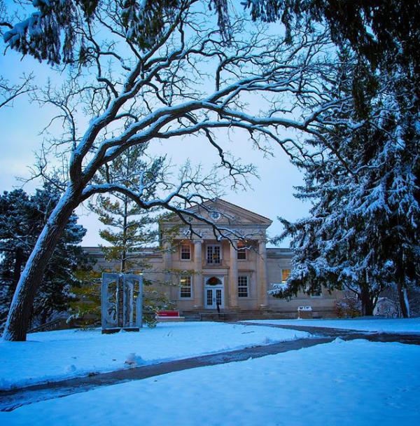 Campus transforms into a winter wonderland.