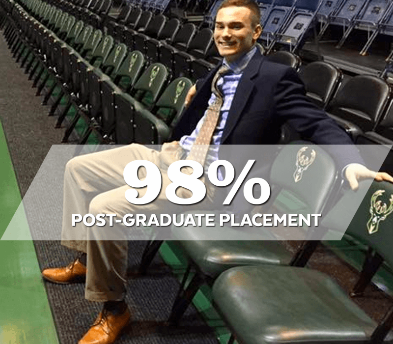 98 percent post graduate placement