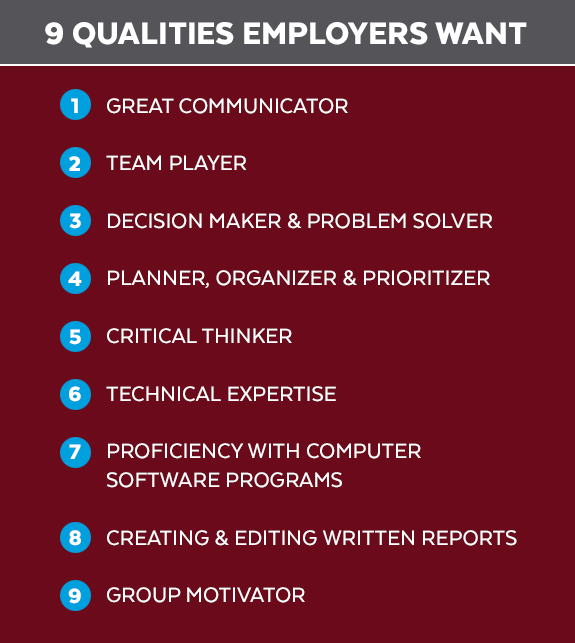 9 qualities employers seek