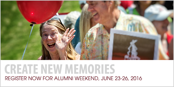 Create New Memories: Register now for Alumni Weekend
