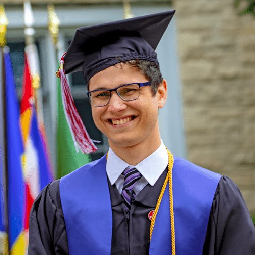 Photo of Jimmy Amedeo from Commencement 2018