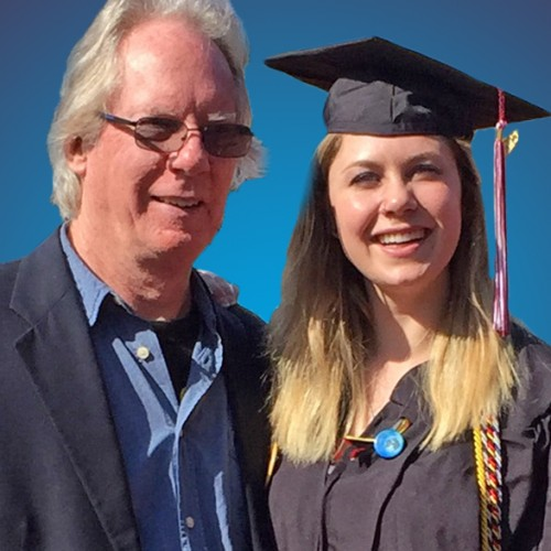 Tom Buesch and daughter