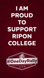 Ripon College One Day Rally Instgram Story or Snapchat image