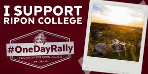 Ripon College One Day Rally Twitter Post image