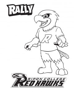 Rally the Red Hawk Coloring Sheet