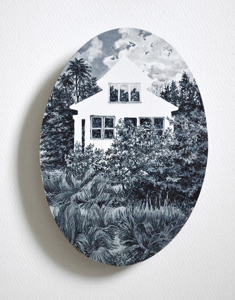 home in a gray-tinted frame