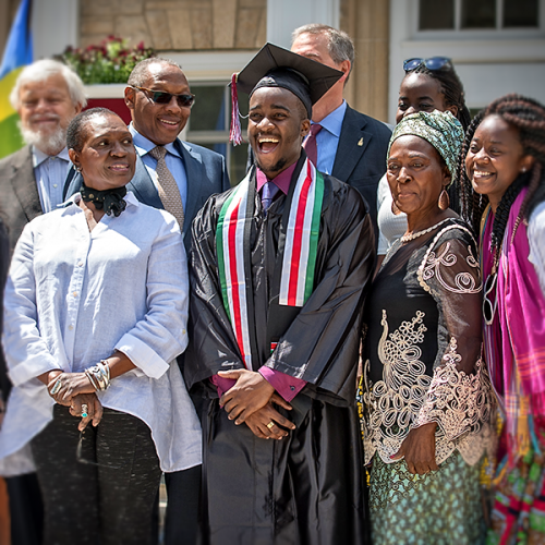 James-Mark Ooko-Ombaka with family at Ripon College Commencement 2016