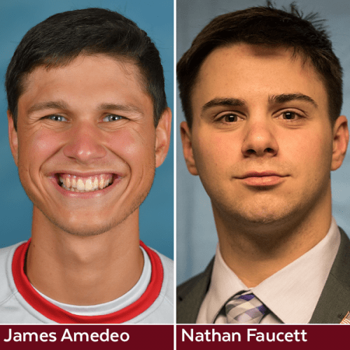 Composite photo of James Amedeo and Nathan Faucett