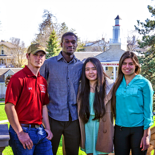 Photo of Daniel Zipperer, Leandre Some, Vivan Bai and Lucero Pena