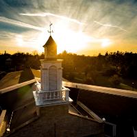 clocktower in sunset