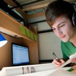Student at Desk in Scott Hall Room