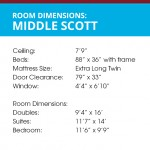Middle Scott Hall Room Dimensions
