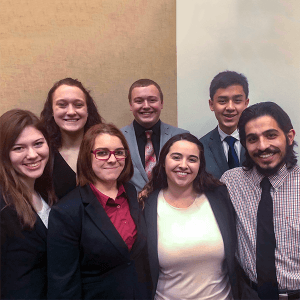 The Ripon College Ethics Bowl team recently competed at the Upper Midwest Regional.
