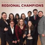 Ripon College 2017 Ethics Bowl Team