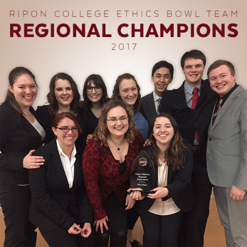 Ripon College 2017 Ethics Bowl Team