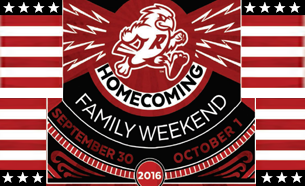 Homecoming & Family Weekend, Sept. 30-Oct. 1, 2016