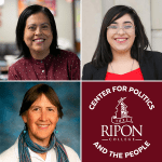 "Ripon College Center for Politics and the People ""Immigration Crisis"" presenters: Maria Bautista-Mendoza, Maythe Salcedo and Kat Griffith"