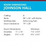 Room Dimensions for Johnson Hall