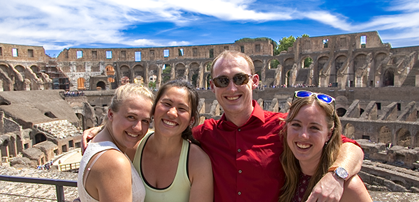 Students traveled to Rome in May as part of the Liberal Arts in Focus course