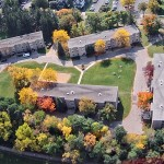 Aerial View of Quad Residence Halls