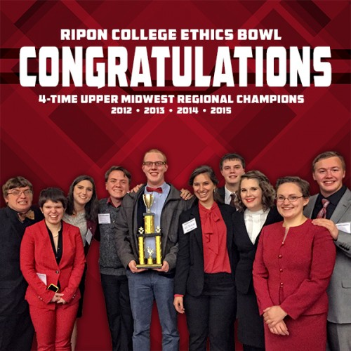 Ripon College Ethics Bowl 2015 Upper Midwest Regional Champions