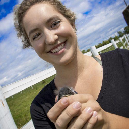 Mariah Stiesma with bluebird
