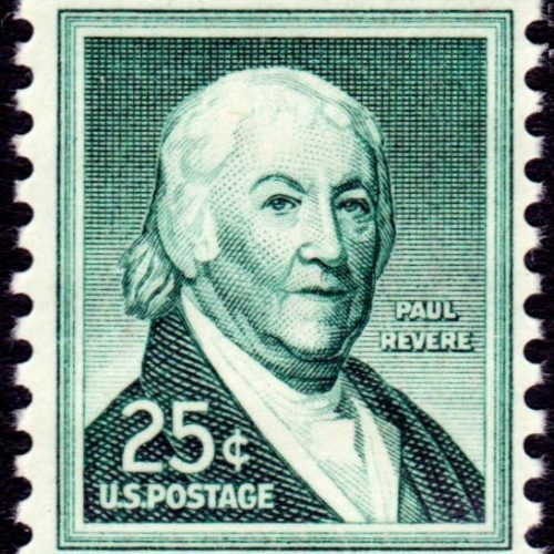 Postage stamp depicting Paul Revere