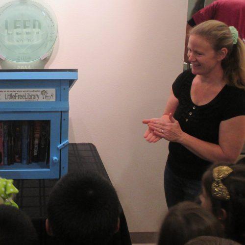 Photo of Katherine Brady giving a presentation