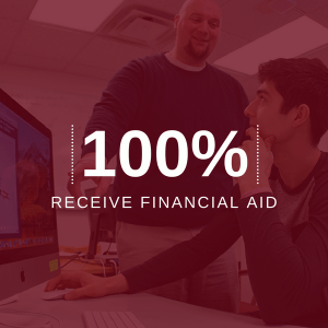 image with 100 percent receive financial aid stat