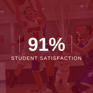 image with 91 percent student satisfaction stat