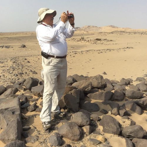 Joseph Sandrin '73 in the field in Saudi Arabia