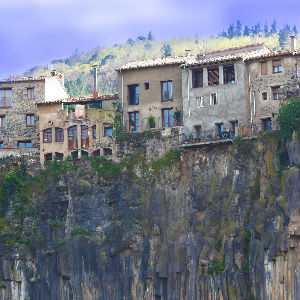 run down homes on the side of a cliff