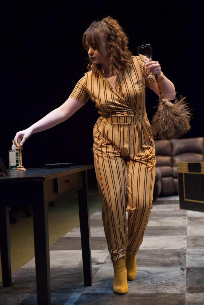 """Bailey Jerrick '20 during the 2019 production of """"Tartuffe"""""""