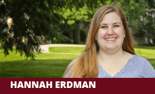 A photo of Admission counselor Hannah Erdman