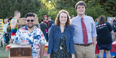 Student Senate members at the annual Activities Fair