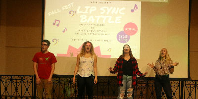 Students at WRPN's Lip Synch battle