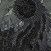 dark image of alien-like object