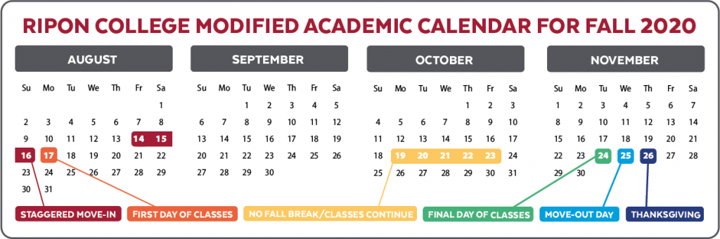 academic calendar for fall