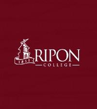 ripon logo on red background