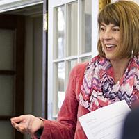 female teacher teaching